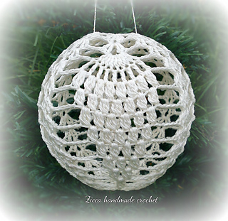 Free Thread Crochet Christmas Ornaments Patterns : Ravelry: Crochet christmas ball ornament pattern by Ilona ...